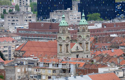 Basílica del corazón sagrado de Jesús en Zagreb Imagen de archivo
