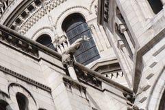Basílica del corazón sagrado de París - detalle fotografía de archivo libre de regalías