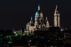 Basílica del corazón sagrado en Montmartre Foto de archivo