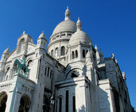 Basílica del corazón sagrado en París imagen de archivo libre de regalías