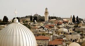 Basílica del cristiano de Jerusalén imagenes de archivo