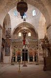 Basílica del monasterio de la cruz santa en Jerusalén Imagenes de archivo