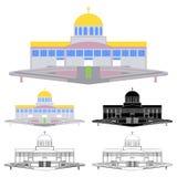 Basílica del padre eterno divino, Trindade, el Brasil ilustración del vector