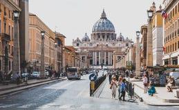 Basílica del ` s de San Pedro Imagen de archivo libre de regalías