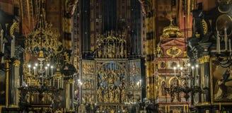 Basílica del ` s de St Mary kraków Fotos de archivo
