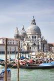 Basílica del saludo del della del canal magnífico y de Santa María Foto de archivo