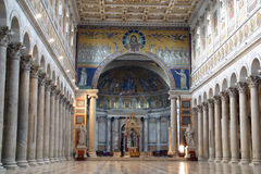 Basílica del santo Paul Outside las paredes en Roma Imagen de archivo libre de regalías