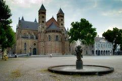 Basílica del santo Servatius Imágenes de archivo libres de regalías