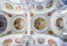 Basílica del St Mang en Fussen, Baviera, Alemania Imágenes de archivo libres de regalías