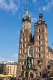 Basílica del St. Marys en Kraków Fotografía de archivo libre de regalías
