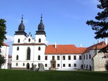 Basílica del St Prokop en Trebic Foto de archivo