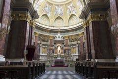 Basílica del St. Stephen, panorama interior Fotografía de archivo libre de regalías