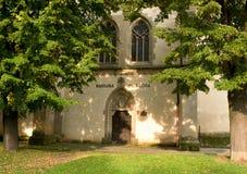 Basílica del stEgidius en Bardejov - entrada trasera Imagenes de archivo