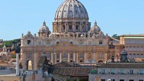 Basílica del VATICANO de San Pedro en Roma zoom almacen de metraje de vídeo