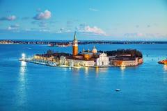 Basílica Di San Giorgio Maggiore em Veneza Fotos de Stock Royalty Free