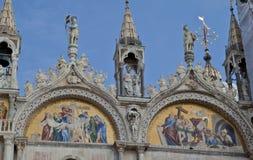 Basílica di San Marco e doges palácio, Veneza imagem de stock
