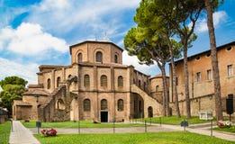 Basílica di San Vitale em Ravenna, Itália imagens de stock