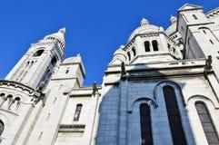 A basílica do coração sagrado de Paris Fotos de Stock Royalty Free