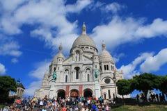 A basílica do coração sagrado de Paris Imagem de Stock