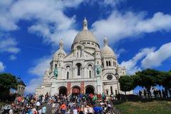 A basílica do coração sagrado de Paris Imagens de Stock Royalty Free