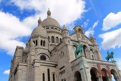A basílica do coração sagrado de Paris Foto de Stock Royalty Free