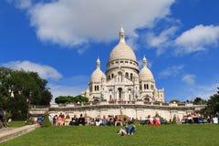 A basílica do coração sagrado de Paris Fotografia de Stock