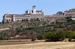 Basílica do d'Assisi de San Francesco Fotografia de Stock Royalty Free