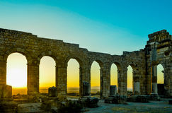 Basílica do local de Volubilis Fotografia de Stock Royalty Free