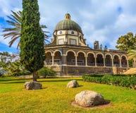 Basílica do monastério de beatitudes da montagem Foto de Stock Royalty Free