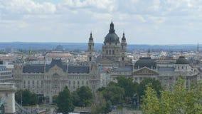 Basílica do ` s de St Stephen em Budapest vídeos de arquivo