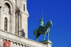 Basílica do Sacre Coeur de Montmartre em Paris foto de stock royalty free