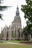 Basílica do salvador do St, Dinan, France imagem de stock royalty free