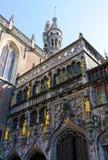 Basílica do sangue santamente em Bruges, Bélgica imagem de stock