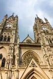 Basílica do voto nacional em Quito Equador Imagens de Stock