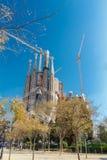 Basílica e iglesia expiatoria de la familia santa (Sagrada Familia) Foto de archivo