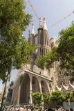 Basílica e igreja expiatória da família santamente Barcelona Fotografia de Stock