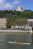 Basílica e rowers Fotografia de Stock Royalty Free