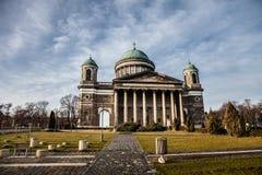 Basílica em Esztergom hungria toned foto de stock royalty free