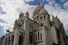 A basílica em Montmartre Fotos de Stock