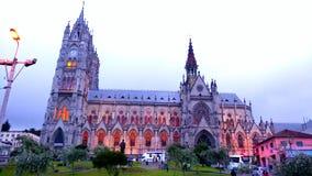 A basílica em Quito imagem de stock