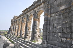 Basílica em Volubilis, Meknes Marrocos foto de stock royalty free