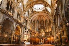 Basílica en el monasterio de Montserrat, España Imagen de archivo