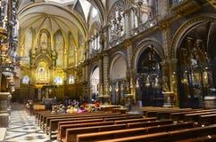 Basílica en el monasterio de Montserrat, España Fotos de archivo