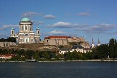 Basílica en Esztergom (Hungría) imagen de archivo