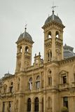 Basílica en San Sebastián, España fotos de archivo libres de regalías