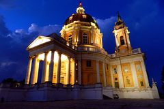 Basílica espectacular de Superga imágenes de archivo libres de regalías