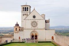 Basílica famosa de St Francis de Assisi Basilica Papale di San Francisco Fotos de archivo