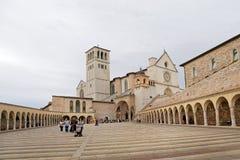 Basílica famosa de St Francis de Assisi Basilica Papale di San Francisco Imágenes de archivo libres de regalías