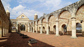 A basílica histórica de Cuilapan, Oaxaca, México foto de stock royalty free