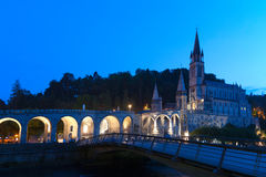 Basílica Lourdes fotos de archivo libres de regalías